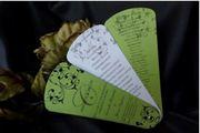 Buy custom and personalize Wedding Programs,  Wedding Fan Programs